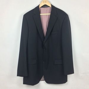 Hugo Boss Black Blazer 44L Virgin Wool 2 Buttons